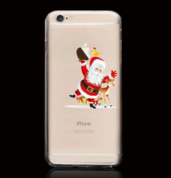 Wholesale Christmas Santa Claus Case For iPhone s quot Christmas Holiday decors Present Phone Skin Soft Cover Case Christmas supplies