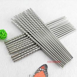 Wholesale Hot Home Kitchen Dinnerware Stainless steel chopsticks Chinese Chopsticks Kitchen Rrestaurant Chopsticks MQC PAIRS