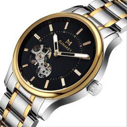 Wholesale Male Fashion Business Watch Stainless Steel Belt Mechanical Automatic Watch Waterproof Watch Wristwatch