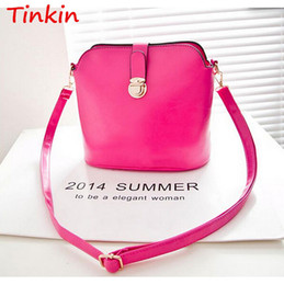 Wholesale-Tinkin 2015 Women Handbag Shoulder Cross-Body Bag Bucket Vintage Women Leather Handbag Messenger Bag