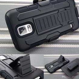 Para Samsung Galaxy S5 Armadura Funda Funda Impacto Híbrido Impacto Híbrido Cinturón de la cubierta Clip Kickstand Combo Fit S V I9600 G900 Nuevo desde caso de impacto galaxy s proveedores