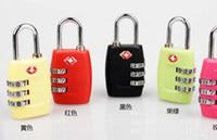 Wholesale High Quality Black Red TSA Padlock Digit Password Lock Travelling Bag s Coded Lock Safe Locker