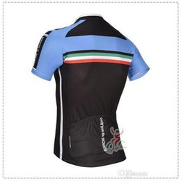 Wholesale 2015 bianchi men s cycling jersey set with short sleeve bicycle clothing and bib sets