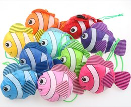 Wholesale mic New Colors Tropical Fish Foldable Eco Reusable Shopping Bags cm x58cm Bags Luggages Accessories