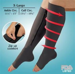 Hot Sales Zip Sox Zip-Up Zipper Compression Sock Ultrathin Breathable Open Toe Compression Sleeve Women Socks
