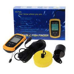 Wholesale HSTYQ fish finder Portable Sonar Wired LCD Fish depth Finder Alarm M AP Electronic fishing tackle
