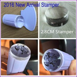 Wholesale-2016 Milky White New 2.8CM Transparent Stamp Nail Art Clear Jelly Stamper Scraper Tool Set Manicure Polish Stamp Image Tool Kit