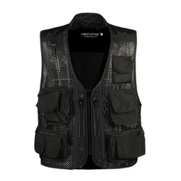 Fall-Mesh breathable multi-function quick-drying vest