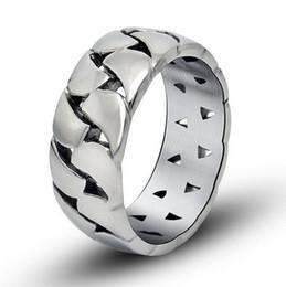 Compra Online Bandas de acero inoxidable enlaces-Regalo accesorio del encanto del anillo de la venda de la cadena 9m m del acoplamiento del mecánico del hueco del acero inoxidable 316L para el tamaño 8-11 R315 del novio