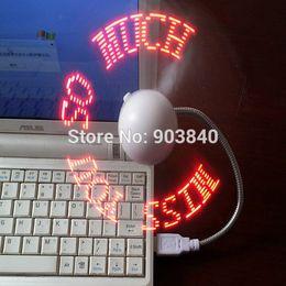 Wholesale USB Powered LED Message Fan Programmable Cooler Fans for Desktop Laptop Accessories customs message a