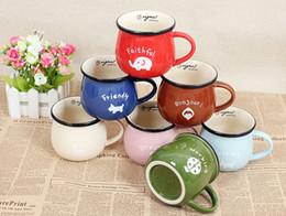 vintage ceramic milk cup breakfast water cup cute