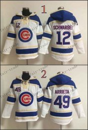 Wholesale Chicago Cubs Kyle Schwarber jake arrieta white Cheap Baseball Hooded Stitched Old Time Hoodies Sweatshirt Jerseys