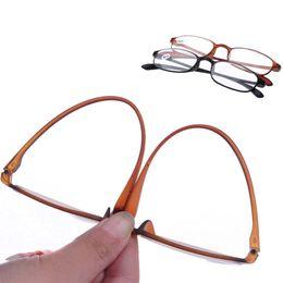 TR90 Frame Resin Lens Black   Brown Color Unisex Eyeglasses Points to Reading glasses 1.0 1.5 2.0 2.5 3.0