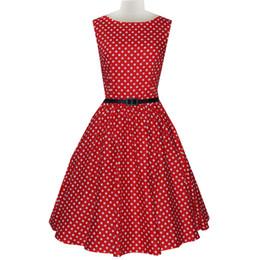 Audrey red with white Polka Dot Vintage Inspired Polka Dot 1940s Dress