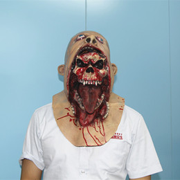Ghost Zombie Mask Halloween Full head All Saints' Day Mask Latex Creepy Scary mask horror monster mask