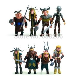 "Hot sale Movies A Set 8pcs Toys for Children How To Train Your Dragon Hiccup Astrid 4.8"" Figure Xmas Gift"
