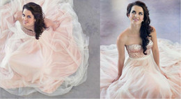 Wholesale Sensational Pink Tulle Wedding Dresses Glitter Sequins Princess Skirt Sash Sweetheart Elegant Bridal Gowns Fall Vestido de novia