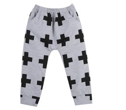 Wholesale Baby Boys Girls Casual Harem Pants Kid Toddler SweatPants Joggers Elastic Bottoms
