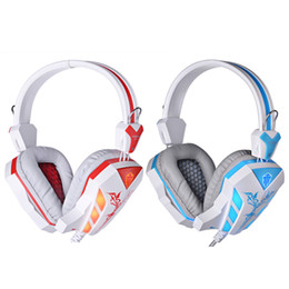 Wholesale NEW LED Light Noise Cancellation Glaring Cosonic CD Gaming Headphone Earphones Headset with Microphone for Desktop Tablet PC V1008