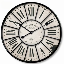 European retro style Large iron mute wall clock 34CM A 0201012