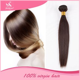 Indian Virgin Hair Straight Unprocessed 7A Brazilian Peruvian Malaysian Cambodian Remy Human Hair Weaves 3 4 5 Bundles Natural Color Can Dye