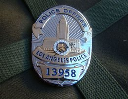 Wholesale The metal badge of the LAPD Losangeles chapter No copper badge chest