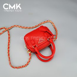 Wholesale CMK KB109 New Colors Kids Handbag Young Girls Fashion Designer Single Shoulder Bags Kids Handbags Crossed Pattern PU Leather