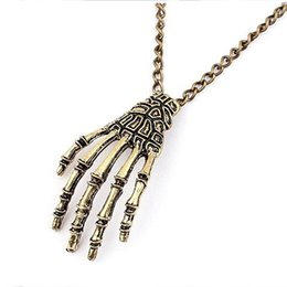 Hot Sale New Fashion Personalized Retro metal Punk Pendant Skeletons necklace statement jewelry for women Wholesale PD23