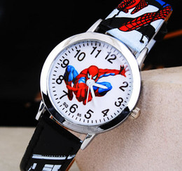Los niños ven a Spider Relojes Fashion Girl Kids Student Cute Leather Sports Relojes de pulsera analógicos Muchos colores