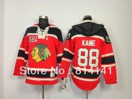 Wholesale 2016 Best quality Cheapest Old Time Ice Hockey Jerseys Blackhawk Kane Lace Jersey Fleece Hoodie Red