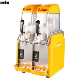 Wholesale Xeoleo Commercial Slush máquina doble tanques Cold Drink Machine L Smoothie Beber la máquina para bebidas Bubble Tea Shop