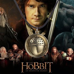 Wholesale Movie jewelry The Hobbit necklace Jewelry Bilbo Baggins Acorn Button pendants Necklace bronze rope chain charm statement jewelry