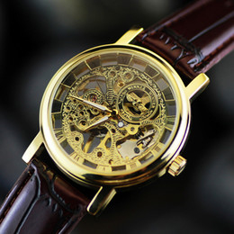 Wholesale South Korea s fashion leisure fashion hollow mechanical table table belt Mens Watch neutral business
