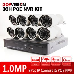Wholesale 8CH POE Switch CH NVR Video Surveillance Kit Motion Detection Video recording H Onvif P MP HD IR Outdoor Bullet IP POE Camera