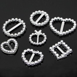Wholesale 20 mm Round Heart Square Rhinestone Crystal like Buckles Bar Invitation Ribbon Chair Covers Slider Sashes Bows Buckles Wedding Supplies