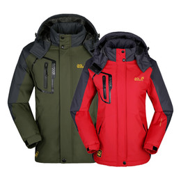 Wholesale New Men and women Mountain climbing Coat Ski jacket Waterproof Windproof Venting Winter Outdoor Snow Sports clothes snowboard