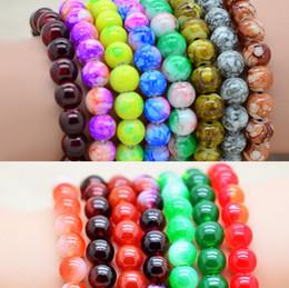 Wholesale 8mm Glass Bead Bracelet Women Mens Bracelet crystal beaded bracelets Multicolor Garnet pearl bracelet Carnelian jewelry Best Gift
