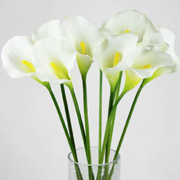 Hot Sale Calla Lily Bridal Wedding Bouquet head Latex Real Touch Artificial Flower FZH062