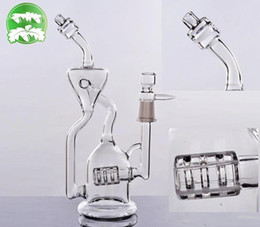 Real Image Tree Recycler Triple Perc Glass Water Pipes Bongs Bubbler 14.4mm Joint Hand Inline Ash Catcher Oil Rigs pulse glass bongs