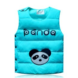 Wholesale-2015 new winter children's side buckle down vest vest children's clothing baby boys and girls down vest warm