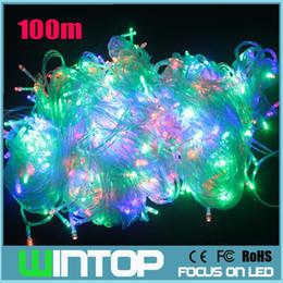 100M 500leds 220V RGB White Warm White Flashing LED String Light Holiday Lights 8Different Modes for Christmas Party Wedding