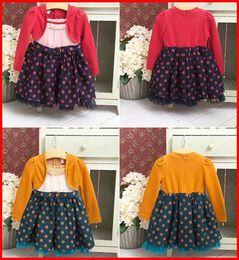 Wholesale Hot Sale Autumn winter spring Baby Girls long sleeve dress children dot dress tutu skirt colors choose free ship T pc melee