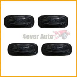 (4) Smoke Lens LED Fender Bed Side Marker Lights Set For Dodge RAM 2500 3500 HD (2 x Amber, 2 x Red)