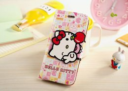 Wholesale For Iphone s Hello KT Cartoon Case Lether TPU Wallet Case for iPhone s G Plus Samsung Galaxy Note3 Note4
