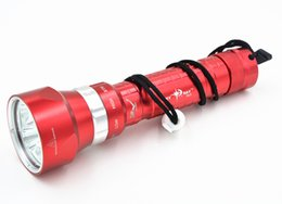Wholesale-2015 New Red Underwater 100M 8000LM 5x CREE XML L2 LED Scuba Diver Diving Flashlight Torch Light