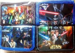 Wholesale 300pcs Star Wars enfants sacs à main portefeuilles porte monnaie porte monnaie noir chevalier Darth Vader Stormtrooper portefeuilles enfants sacs nylon portefeuilles