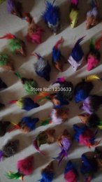 Wholesale Long haired variety of colors rabbit tail feathers cat toy mouse bite amused