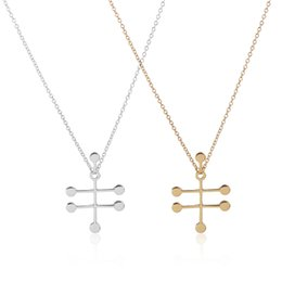 Wholesale 10 k Gold and Silver Vodka Molecule Ethanol Alcohol Necklace for Women Science Chemistry Structure Necklace N53