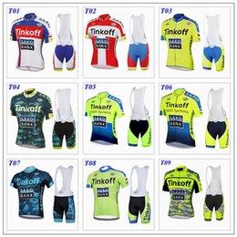 Wholesale 2015 tour de france cycling jerseys Bike Suit pro cycling jersey Tinkoff saxo bank colors cycling jersey short Bib Pants size XS XL
