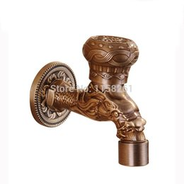 Wholesale Garden Antique Plate Bathroom Washing Machine Tap Laundry Mop Pool Cold Water Bibcock bathroom faucet Bath tap HJ F